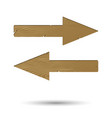 wooden arrow right and left isolated vector image vector image