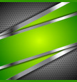 Abstract green background with metallic design