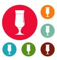 alcohol icons circle set vector image vector image