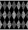 animal black and gray geometric seamless pattern vector image vector image
