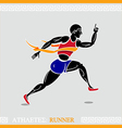 Athlete runner vector image vector image