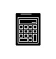 business calculation black icon sign o vector image vector image