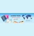 business travel special offer template horizontal vector image vector image