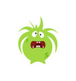 cartoon flat confused monsters green icon vector image