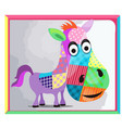 childrens picture with a picture of a donkey made vector image