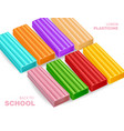 colorful plasticine back to school concept vector image vector image