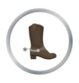 Cowboy s boots icon in cartoon style isolated on vector image vector image