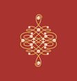 elegant golden knot sign red and golden yellow vector image vector image
