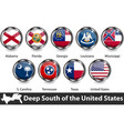 flags deep south us vector image vector image