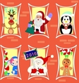 Gingerbread house inhabited Christmas characters vector image