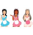 Girls maid vector image