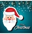 greeting santa card snowfall vector image vector image