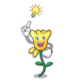 have an idea daffodil flower mascot cartoon vector image vector image