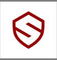 initial letter s shield secure safe modern logo vector image vector image