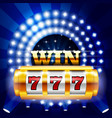 jackpot - 777 on casino slot machine big win vector image