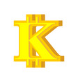 k letter bitcoin font cryptocurrency alphabet vector image vector image