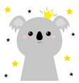 koala bear face head icon cute kawaii animal vector image