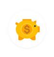 moneybox icon savings sign money box pig vector image vector image