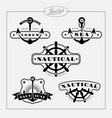 nautical label set vector image vector image