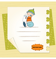 new baby announcement card with kid vector image vector image