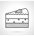 Piece of cake black line icon vector image