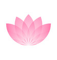 pink lotus flower icon symbol of yoga and beauty vector image vector image