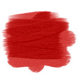 red grunge painted texture vector image