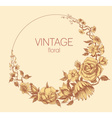 Round floral frame vintage style vector image vector image
