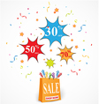 Sale Discount design with shop vector image vector image