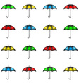 Seamless pattern of row colorful umbrellas vector image vector image