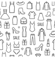 Seamless pattern of womens clothing and vector image vector image