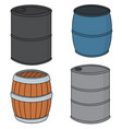 set of barrel vector image