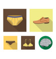 shoes shoe panties underwear and other clothes vector image vector image
