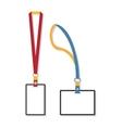 Template flat design of lanyard end badge vector image