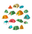 tent forms icons set cartoon style vector image vector image