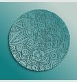 traditional floral mandala paper cut design vector image vector image