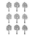 trees black silhouettes vector image vector image