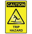 Trip hazard Sign vector image vector image