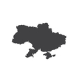 Ukraine map silhouette vector image vector image
