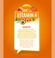 vitamin a banner vector image