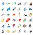 work man icons set isometric style vector image vector image