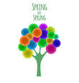 Abctract buttons tree Spring has sprung vector image