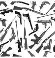 firearms weapons and guns seamless pattern eps10 vector image