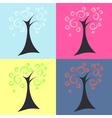 Trees four seasons vector image