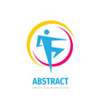abstract human character - concept business logo vector image vector image