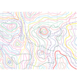 abstract topographical map vector image vector image