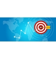achieving target strategy improvement concept vector image vector image
