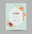 autumn hortensia flowers for invitation vector image vector image