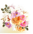 beautiful bouquet flowers for design vector image vector image