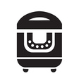 black multicooker icon vector image
